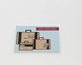 Good Luck Card Going Away Card Retirement Card Graduation Card Just Married Wedding Card Bon Voyage Adventure Card Moving Away Card - 107C