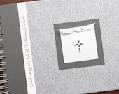 Memorial Guest Book   Funeral Guest Book   Guestbook   Personalized Celebration of Life Book   Remembrance Guest Book   Silver Fleur Cover