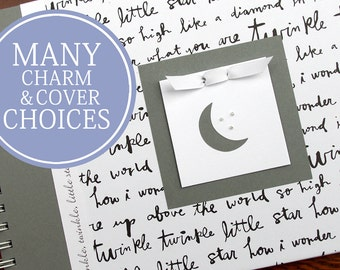 Personalized Pregnancy Journal | Pregnancy Gift | Pregnancy Memory Book | Gender Neutral | Twinkle, Twinkle, Little Star with Moon & Stars