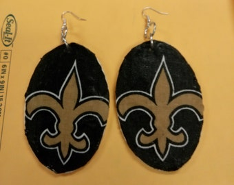 Med/large New orleans saints earrings