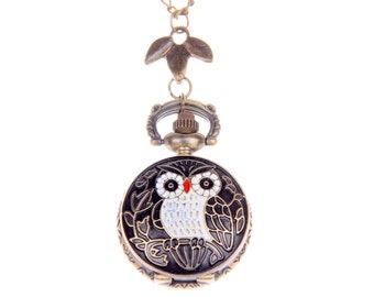 Necklace Pocket watch owl