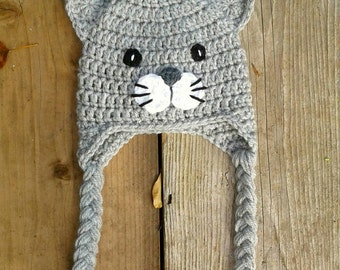 Crochet Cat Hat, baby kitty, toddler cat hat, cat hat photo prop, kitten hat, beanie, kitten hat, baby kitten, baby hat, toddler hat, kitten