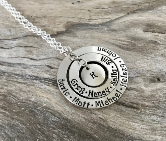 Personalized Necklace / Personalized Jewelry / Personalized Name Necklace / Personalized Gift / Custom Hand Stamped / Custom Name Necklace