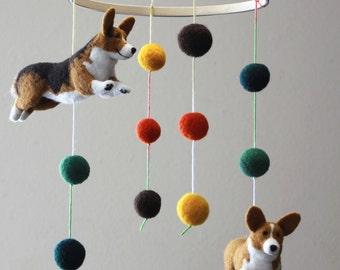 Felt Baby Mobile -  Pet Portraits & Animals - CUSTOM Listing