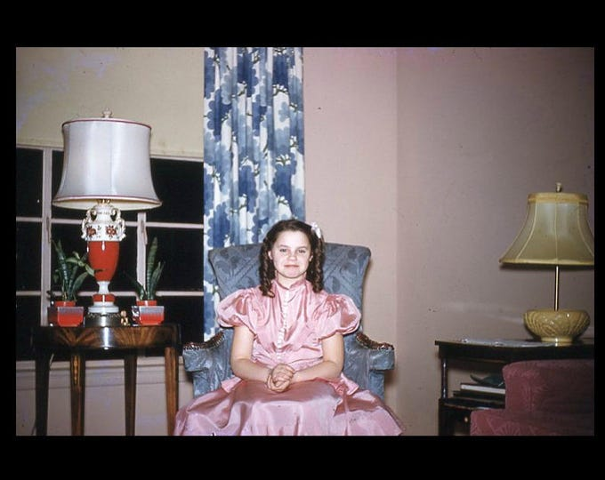 Judy, 1956: Kodachrome Red Border 35mm Slide/Transparency Vintage Photo Snapshot (7316-2)