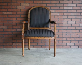 French Accent Chair / Bergere Chair / French Carved Chair / Nicole Chair by Ethan Allen