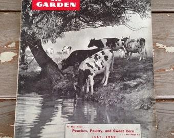 VINTAGE FARM MAGAZINE-New Jersey Farm and Garden Magazine,Farm and Garden Magazine,Vintage Cow Magazine,Farm Magazine,Poultry Magazine,Farms