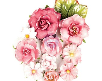 PINK PAPER FLOWERS, Mixed Pink Paper Flowers, Prima Flowers, Prima Endless Friendship Flowers, Pink MulberryFlowers, Paper Flowers
