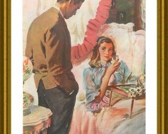 Romantic Wall Art - Breakfast In Bed - 1940's