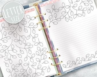 Printable Planner Inserts. Coloring pages inserts.  Letter size inserts.  Coloring therapy. Happy Planner. Mambi inserts.