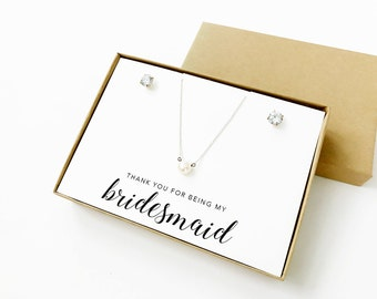 Thank You For Being My Bridesmaid Jewelry Boxes (Jewelry not included) | Jewelry Boxes | Bridesmaid Gifts | Bridesmaid Jewelry | LJBS2