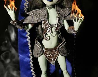 "17"" Frankie Stein Night Elf OOAK doll"