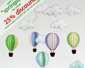 Balloons baby crib mobile-Balloons hanging mobile-Hot air balloons mobile-Balloons in the sky