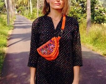 Boho Belt Bag / Cross Body Small Bag / Travel wallet And Passport Holder / Minimalist Bag / Hidden Pockets / Pocket Belt / Christmas Gift