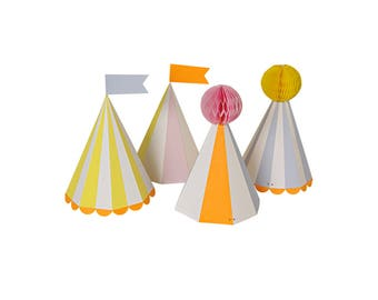 Circus Party Hats - carnival paper hats