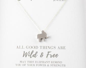 Silver Elephant Good Luck Necklace - Sterling Silver