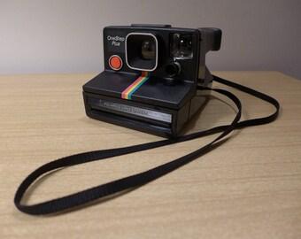 Black Rainbow Polaroid Land Camera One Step Plus SX70 Tested Works Well Instant Exposure Camera Vintage 1980s Instamatic Photo