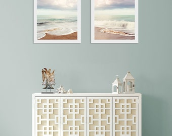 Coastal Wall Art Decor, Set of 2 coastal art prints,  Living Room Wall Art, Gift for Mom, Gift for Beach Lover, Diptych