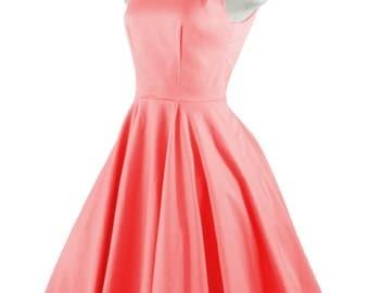 chloe coral rockabilly swing rock u0027n roll dressfull circle coral dress