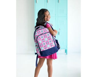 Mia Tile Backpack - May be Monogrammed or Personalized with Embroidered Name - Back to School Book Bag
