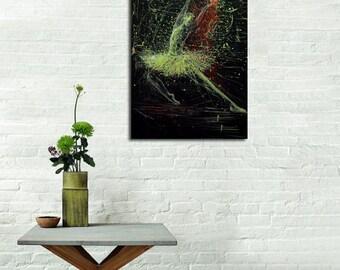 Ballet painting print, Ballerina Art, Canvas Print, Giclee Black and White Print, Dancer Art by Yuri Pysar