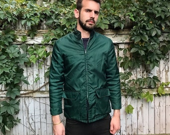 Forest Green Jacket w/ Snap Collar