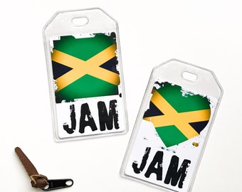 Jamaican Flag Luggage Tag, Jamaica One Love Rasta Pride, Boyfriend Gift, Gifts For Traveler