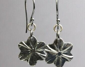 Sterling Silver Flower Earrings, Flower Earrings, Flower Jewelry, Organic Earrings, Nature Earrings, Sterling Silver Earrings, Earrings