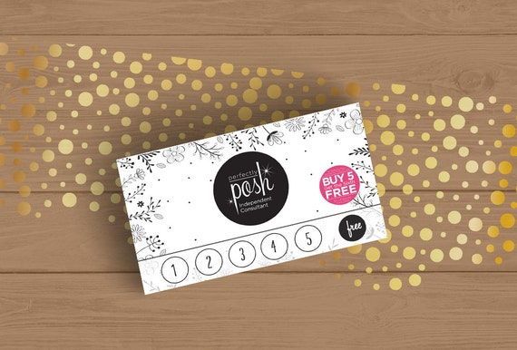 perfectly posh loyalty card template black and white floral business card size by fudemori. Black Bedroom Furniture Sets. Home Design Ideas