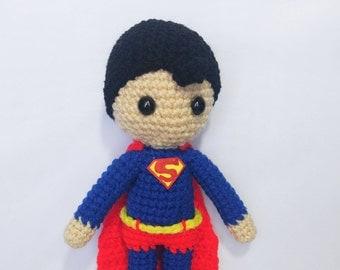 Amigurumi Superman Croche Doll