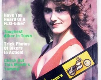 Vintage Easyriders Magazine w/ David Mann Poster August 1982 #110 (mature)