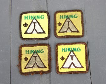 Vintage Hiking Patches Camping Decor Old Girl Scout Patches Boy Scout Vintage Americana Sew On Patches Travel Wilderness Explorer