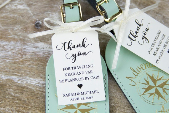 Personalized Luggage Tags Wedding Gift: 25 Of The Best Wedding Favors You Can Find On Etsy