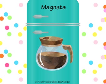 Cute Coffee Carafe Magnet! Coffee Lover Gift, Cute Coffee Magnets, Coffee Carafe, Coffee Lover Magnet, Cute Fridge Magnets, Funny Magnet