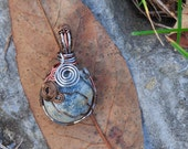 Dragon's Egg Swirly Wire Wrapped Pendant
