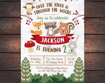 Woodland Invitation, Enchanted Forest Invitation,Woodland Birthday Invitation, DIGITAL