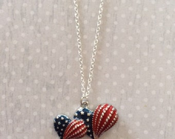 Patriotic Jewelry - Patriotic Gifts - American Flag Necklace - American Flag Jewelry - Red White and Blue - Red White and Blue Jewelry