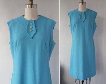 1960s dress | vintage 1960s dress | baby blue shift dress | vintage shift dress | medium | The Robin Egg Blue Dress
