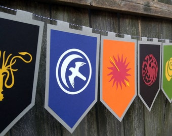 XLG House Sigils Game of Thrones Inspired Banner