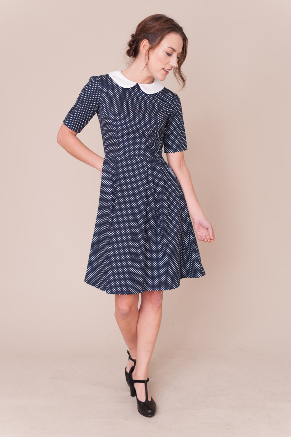 You searched for: peter pan collar dress! Etsy is the home to thousands of handmade, vintage, and one-of-a-kind products and gifts related to your search. No matter what you're looking for or where you are in the world, our global marketplace of sellers can help you .