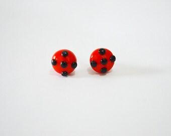 Miraculous LadyBug Earrings-Miraculous LadyBug, Miraculous, Ladybug Earrings, Miraculous: Tales of Lady Bug and Cat Noir,Miraculous Jewelry