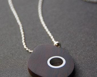Ironwood and Aluminum Necklace