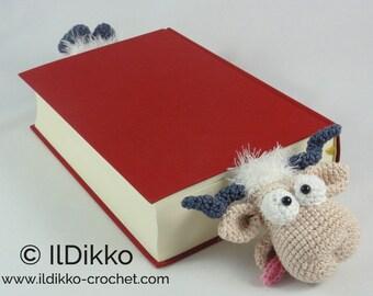 Amigurumi Crochet Pattern - Baarney and Baarn the Sheep Bookmark
