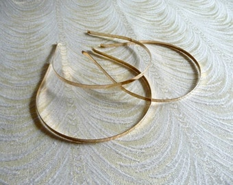Three Gold 5mm Blank Metal Headbands for Fascinators Hats DIY Hair Accessories