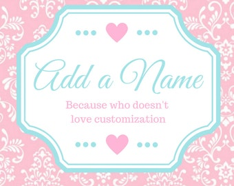 Add A Child's Name To Their Shirt/Onesie-Custom Name Embroidery Add On- Choose your color and font