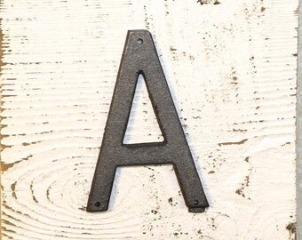 A - 5 Inch Metal Letter A- WITH DRILL HOLES for Mounting