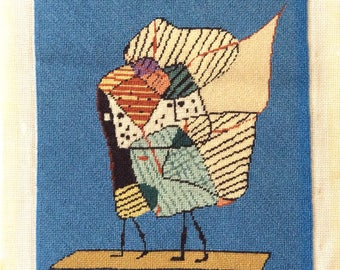 Cubism Needlepoint Abstract Modern Art Petit Point