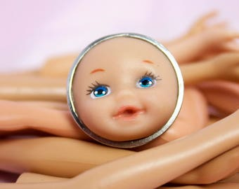 Babyfaced Barbie Child Adjustable Ring | Dollfaced