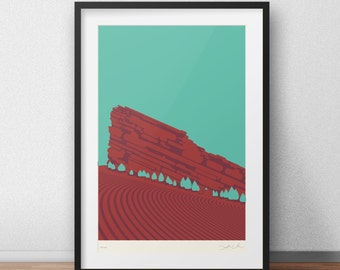 "Red Rocks Poster (Second Edition) • 12""x18"""