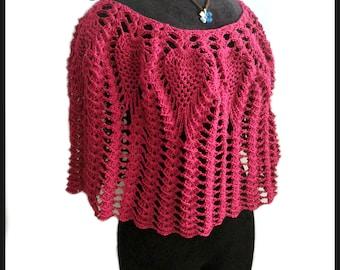 Lacy Love poncho pdf crochet pattern ( size S - 3XL )